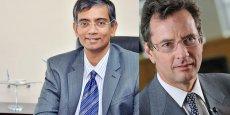 Srinivasan Dwarakanath (à gauche), directeur général d'Airbus India, et Charles Champion (à droite), président de la nouvelle filiale. © photos Airbus SAS