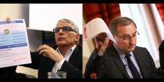Pierre Cohen et Jean-Luc Moudenc ce mercredi, chacun lors de leur conférence de presse