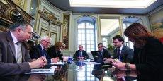 Réunion de cabinet du nouveau maire de Toulouse, Jean-Luc Moudenc