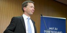 Bernd Lucke, futur porte-parole d'Alternative für Deutschland