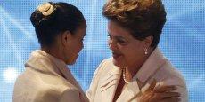 Marina Silva (à g.) a affronté la présidente Dilma Rousseff devant les caméras brésiliennes. Cette dernière affrontera finalement un homme au deuxième tour: Aécio Neves.