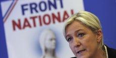 Marine Le Pen, présidente du Front National, ne partcipera pas à la marche républicaine de dimanche,