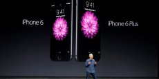 Tim Cook, lors de la présentation des deux modèles d'iPhone 6 en Californie, mardi 9 septembre 2014.