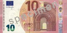 Le nouveau billet de 10 euros fait apparaître le visage d'Europe, princesse phénicienne.