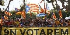 Manifestation en faveur du référendum catalan du 9 novembre.