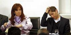 La présidente argentine Cristina Kirchner et son ministre de l'Economie Alex Kicillof.