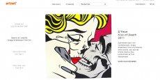 Le site d'enchères en ligne artnet, troisième du classement en termes de trafic derrière Getty Images et le mastodonte Shutterstock. Le succès de ces compagnies est dû à leurs modèles d'affaires parfaitement pensé à l'intersection de l'art et de la vente en ligne, car ils perturbent le commerce traditionnel de l'art.