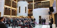 Inauguration du centre de Rercherche et développement de bioMérieux en 2014.