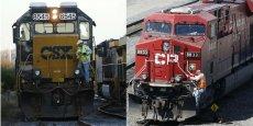 Canadian Pacific Railway et CSX sont respectivement numéro deux des transports ferroviaire au Canada et numéro trois aux États-Unis.