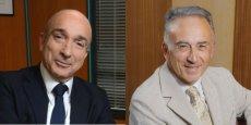 Yvon Grosso et Georges Déo, de l'Union pour l'entreprise des Alpes-Maritimes.