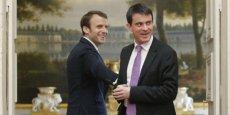 Emmanuel Macron et Manuel Valls a la recherche d'une majorité au sein du PS