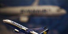 Ryanair a enregistré un chiffre d'affaires de 867 millions d'euros sur l'exercice 2014-2015, clos le 31 mars.