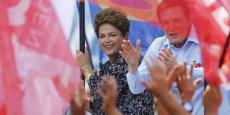 Dilma Rousseff a été confrontée à une économie en plein ralentissement et à des scandales de corruption qui ont terni l'image du parti des Travailleurs. REUTERS.