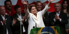 La présidente du Brésil, Dilma Roussef. Le pays va être confronté rapidement au problème du viellissement