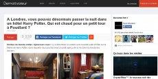 Insolite, brièveté, humour, proximité ... autant de mots clés résumant le contenu des articles publiés sur Demotivateur.fr
