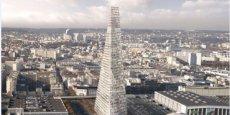 Ce projet entièrement financé par l'opérateur privé Unibail-Rodamco à hauteur de 500 millions d'euros doit accueillir 80.000 m2 de bureaux .