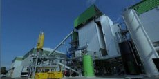 La nouvelle usine de production  de vapeur verte sur la plateforme chimique du Roussillon (Isère).