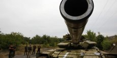 Des journalistes de l'AFP ont été témoins lundi matin de l'avancée de chars, de blindés et de camions sans plaque d'immatriculation en direction de la ville de Donetsk.
