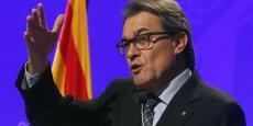 Le président de la Generalitat de Catalogne, Artur Mas.
