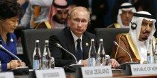 Vladimir Poutine à Brisbane (Australie) à l'occasion du sommet du G20.