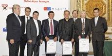 Guy Chifflot, Gérard Cheynet et Pierre Brun les trois lauréats avec leurs trophées