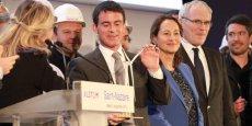 Lors de son discours à Saint-Nazaire, le Premier ministre, Manuel Valls, a annoncé que DCNS et EDF Energies nouvelles ont été retenus dans le cadre de l'appel à manifestation d'Intérêt (AMI) pour la réalisation d'une ferme pilote d'hydroliennes en Basse-Normandie.