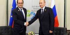 Vladimir Poutine et François Hollande lors du G20 qui s'est tenu au mois de novembre.