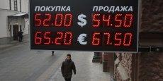 Le rouble a perdu près du quart de sa valeur en novembre, faisant craindre un mouvement de panique des épargnants.