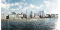 Ce projet de développement sur les rives de l'Elbe, à environ 1 km du centre de Hambourg, proposera un ensemble de commerces et de restaurants.