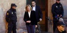 Selon le juge d'instruction, la sœur du roi Felipe VI aurait collaboré aux agissements de son mari Inaki Urdangarin dans le dossier Noos, ouvert depuis le 22 juillet 2010.