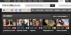 L'écran d'accueil de Pluzz, service de rediffusion à la demande de France Télévision.