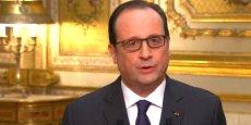 François Hollande lors des voeux présidentielles 2015.