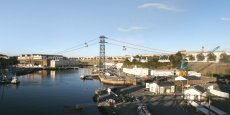 D'un coût de 18 millions d'euros, l'aménagement de ce premier téléphérique urbain de France recevra 2,5 millions d'euros de subvention d'Etat.  Destiné à relier les deux rives de la Penfeld et élargir le cœur d'agglomération, ce projet de franchissement du fleuve par câble, verra le jour en 2016.