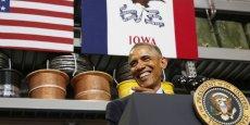 Barack Obama a tenu son discours à Cedar Falls, petite ville de l'Iowa, qui a déployé son propre réseau de fibre optique.