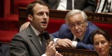 Le ministre de l'Économie Emmanuel Macron, ici en décembre 2014 pendant les questions au gouvernement.