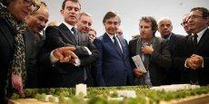 Manuel Valls a inauguré l'Oncopole, vendredi à Toulouse.
