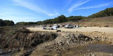 Le site du chantier du Testet, près de Sivens. © photo Rémi Benoit