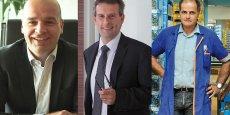 Nicolas Tarrene, dirigeant de PSI Environnement, Serge Braghieri, président de Chêne Vert, et Joël Boyer, président du directoire du groupe éponyme