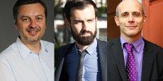 Cédric Mallet (Jeuxvideo.com), Tristan Laffontas (MoiChef) et Thierry Merquiol (Wiseed) : des chefs d'entreprises qui cassent les codes. © Photos DR/Rémi Benoit