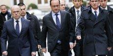 Le chef de l'État (ici le 9 janvier après une réunion à la préfecture de Paris suite à l'attentat contre Charlie Hebdo) a retenu plusieurs propositions du rapport de Jean-Louis Nadal, intitulé Renouer la confiance publique