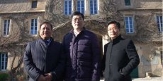 Yu Min, Hon Hau Wong et Ling Ting, dirigeants du groupe BHC International Wine Assets Management