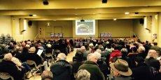 250 personnes étaient réunies lundi soir dans la salle Barcelone à Toulouse.
