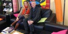 Clare Hart, présidente, et Nigel Connor, gérant d'ACB-ILO