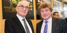 Martin Malvy et Damien Alary, le 5 février 2015 à Toulouse