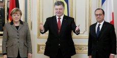 François Hollande et Angela Merkel ont présenté jeudi à Petro Porochenko une proposition de sortie de crise acceptable par tous.