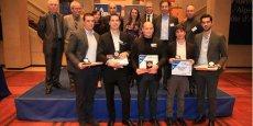 Les membres du jury, les partenaires et les lauréats du Prix Jeune Entrepreneur, réunis le 16 février au Conseil régional PACA