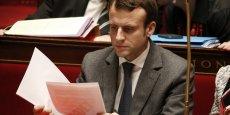 Emmanuel Macron, lors du vote à l'Assemblée.