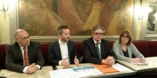 Patrick Pignard, Sébastien Vincini, Georges Méric et Marie-Claude Farcy