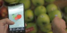 L'utilisateur commence par sélectionner sur son smartphone l'application mobile correspondant au type d'analyse qu'il souhaite effectuer, avant de scanner l'objet de son choix.