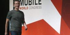 Mark Zuckerberg lundi soir au Mobile World Congress.